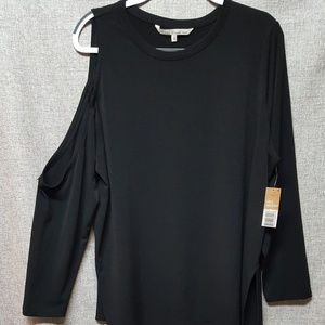 Rachel Roy Cold Shoulder NWT Shirt Black Sz 2x